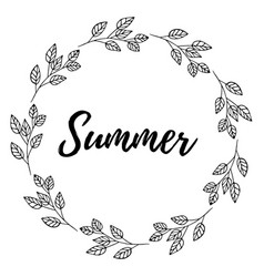 hand drawn of lettering summer card vector image vector image