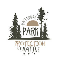 national park protection of nature design template vector image
