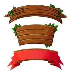 Set of dark wooden banners vector image vector image
