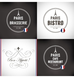 Set of Paris Badges vector image vector image