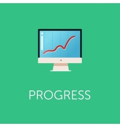 Stock exchange rates on monitors Profit graph for vector image vector image