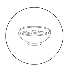 udon icon in outline style isolated on white vector image