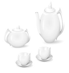 Crockery for tea and coffee vector