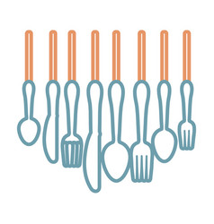 cutlery utensils design vector image vector image
