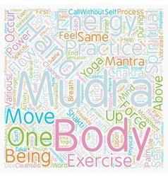 Mudras Hand Symbolism Mudra Power Part 2 text vector image