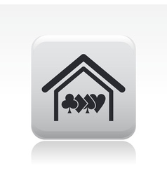 poker house icon vector image vector image