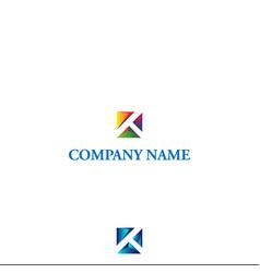 3d k logo design vector image