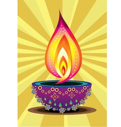 Abstract flame in bowl vector