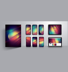 abstract modern background design vector image