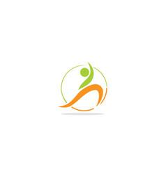 Active people yoga logo vector