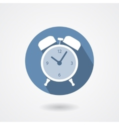 Alarm clock icon isolated on white background vector image vector image