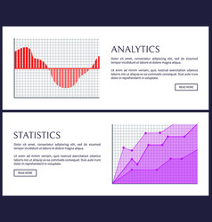 analytics and statistics web informative posters vector image