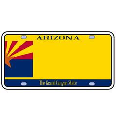 arizona state license plate vector image