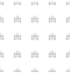 baby walker icon pattern seamless white background vector image