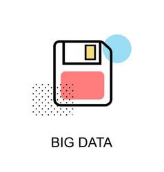 big data graphic icon vector image