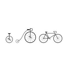 Bike silhouettes vector