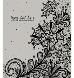 Black lace design vector