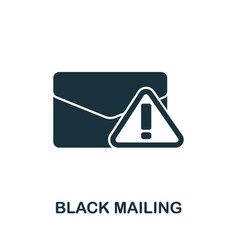 Black mailing icon from banned internet vector