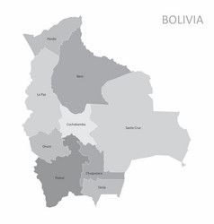 bolivia regions map vector image