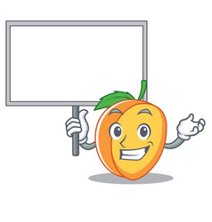 Bring board apricot character cartoon style vector