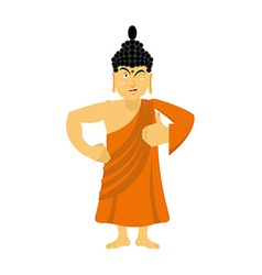 Buddha Thumbs up and winks Indian god shows well vector image vector image