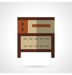 Cake oven flat color icon vector