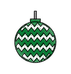 christmas ball decoration ornament image vector image