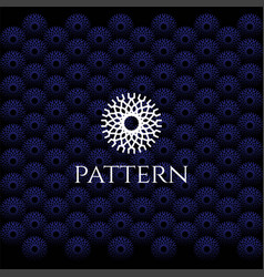 circle elegant luxury flower line pattern logo vector image