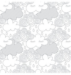 clouds in the sky scandinavian seamless vector image