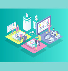 cryptocurrency meeting icons vector image
