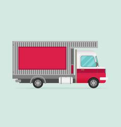 Delivery transport truck van flat vector