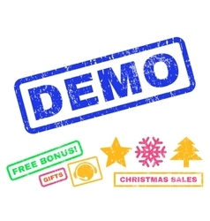 Demo Rubber Stamp vector