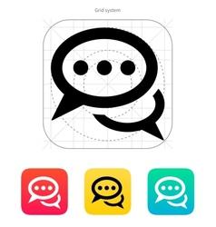 Dialogue icon vector