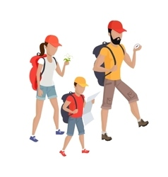 Family Hiking Concept vector image
