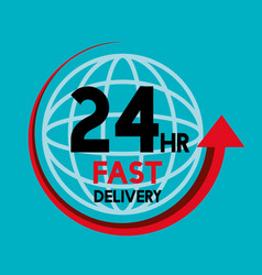 Fast delivery service icons vector
