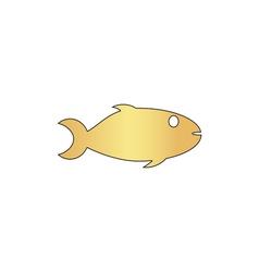 fish computer symbol vector image