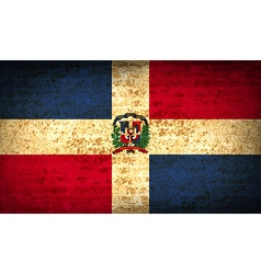 Flags dominican republic with dirty paper texture vector
