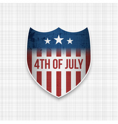 Fouth of july realistic banner vector