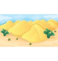 Game Background Of Desert vector