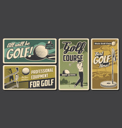 golf club professional golfer sport vector image
