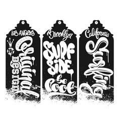graffity t shirt design aerosol vector image