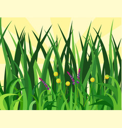 Green grass nature design elements vector
