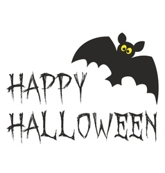 happy halloween party card with bat vector image
