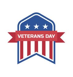 Happy veterans day for american veteran vector