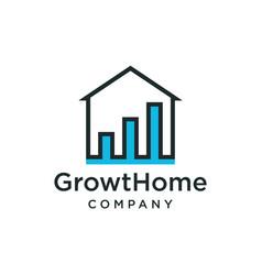 Home growth icon logo design inspiration vector