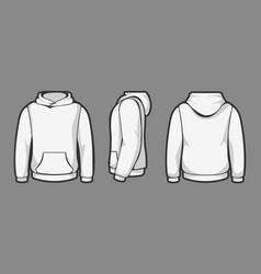 hoodie template views vector image