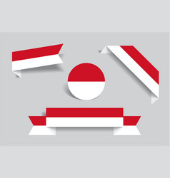 Indonesian flag stickers and labels vector