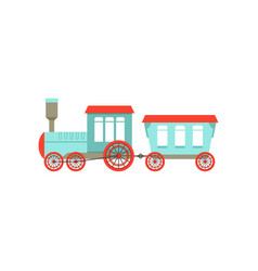 Kids cute cartoon toy passenger train colorful vector