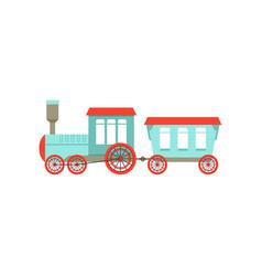 Kids cute cartoon toy passenger train colorful vector