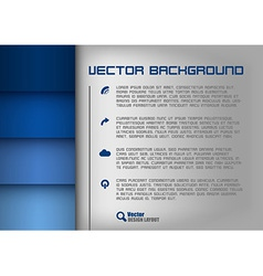 layout blue vector image